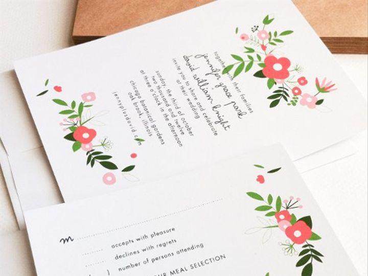 Tmx 1315543487698 BouquetPink Princeton wedding invitation