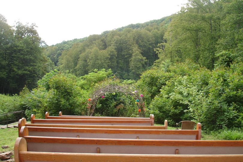 Ceremony area overlooking the forest