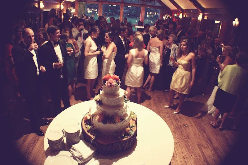 Preparing to cut the cake at the Blowing Rock Country Club