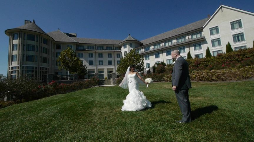John & Nicole's first look outside of the Deer Park Inn on the grounds of the Biltmore Estate in...