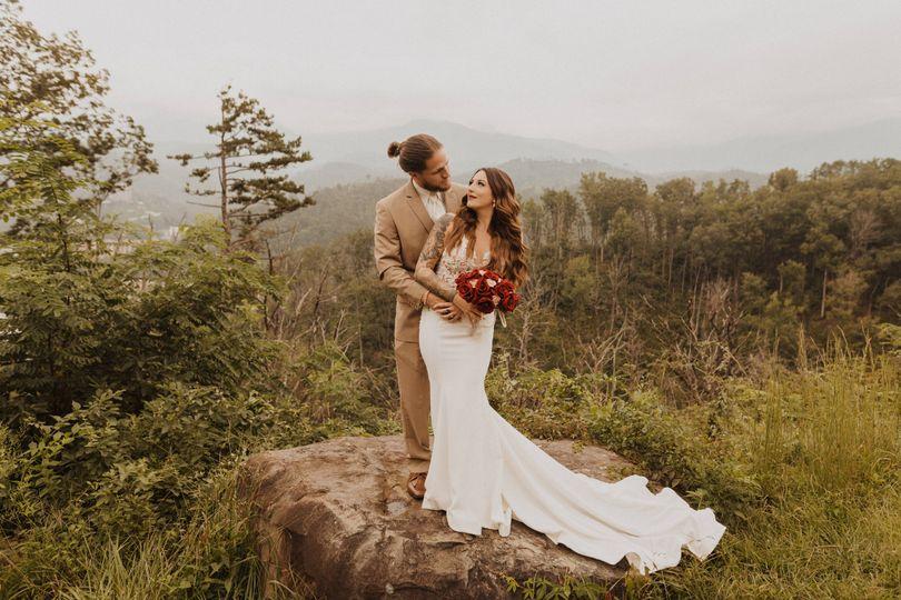 Gatlinburg overlook elopement