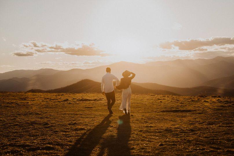 Sunset elopement
