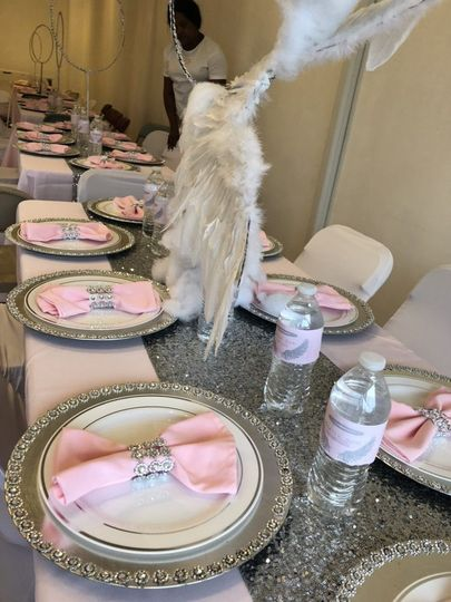 Pink and silver decor