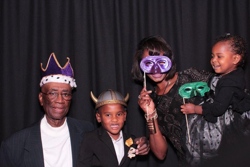 Robinson wedding reception Photo Booth at the Marriott hotel Oak Brook
