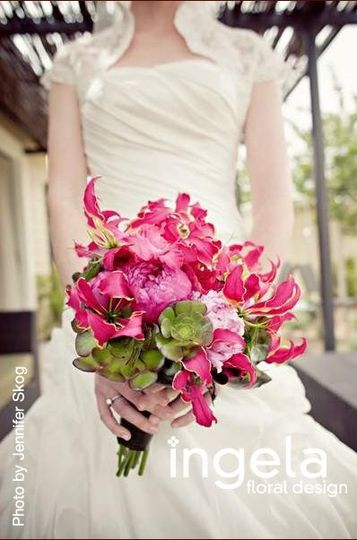 Hot pink and green Bouquet