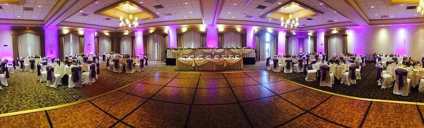 Wedding ballroom area