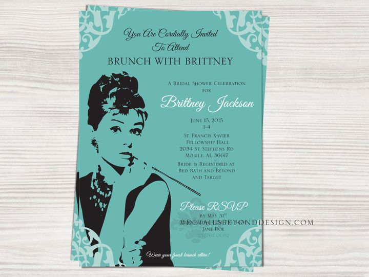Tmx 1420189203906 Brunchattiffanysshowerinvite01 Rancho Cucamonga wedding invitation