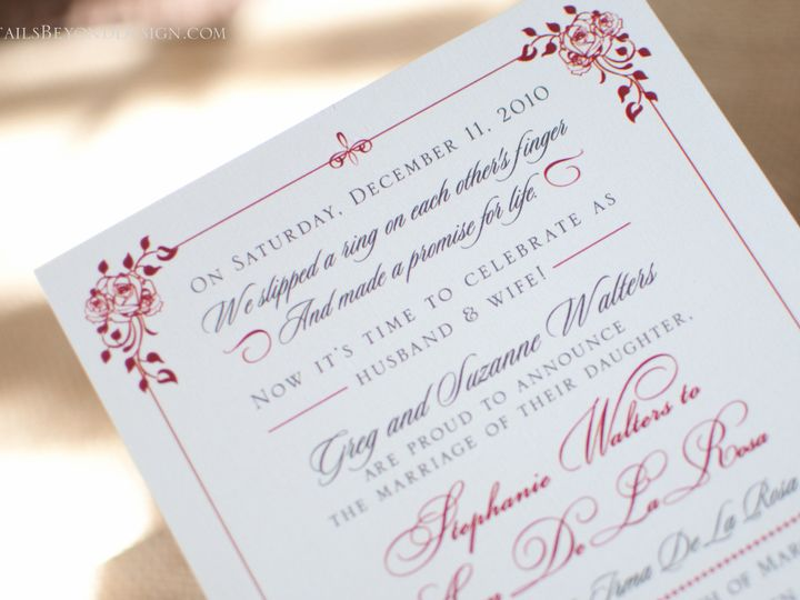 Tmx 1420190035622 Dbd 12 Rancho Cucamonga wedding invitation