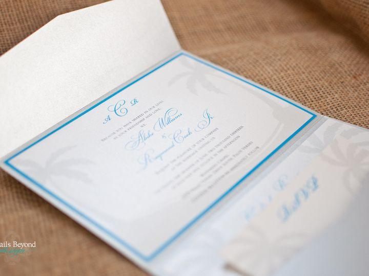 Tmx 1422260381274 Palmtreepocketfold 1 Rancho Cucamonga wedding invitation