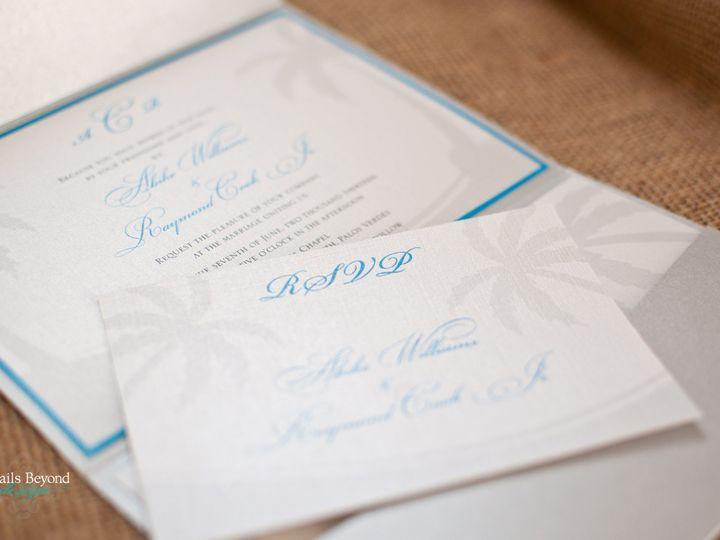 Tmx 1422260408643 Palmtreepocketfold 2 Rancho Cucamonga wedding invitation