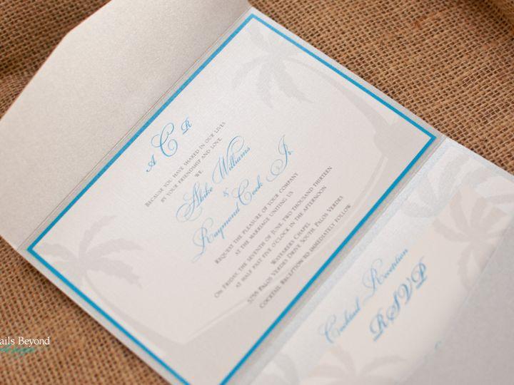 Tmx 1422260434382 Palmtreepocketfold 3 Rancho Cucamonga wedding invitation