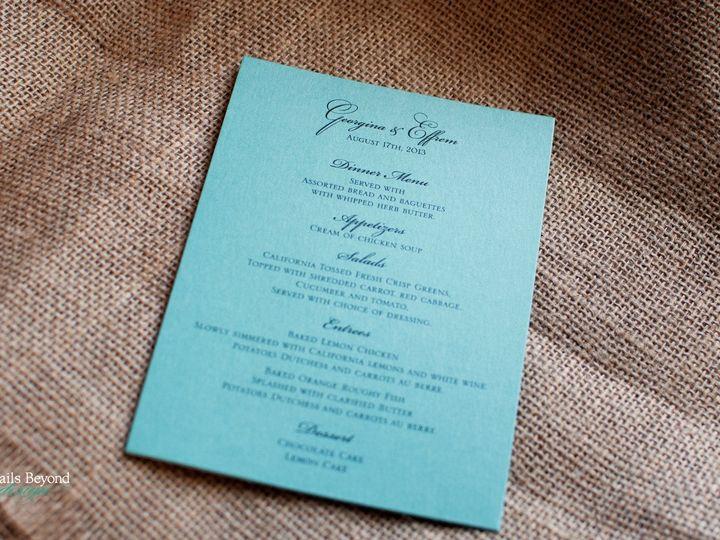 Tmx 1422260529609 Tiffanymenu 1 Rancho Cucamonga wedding invitation