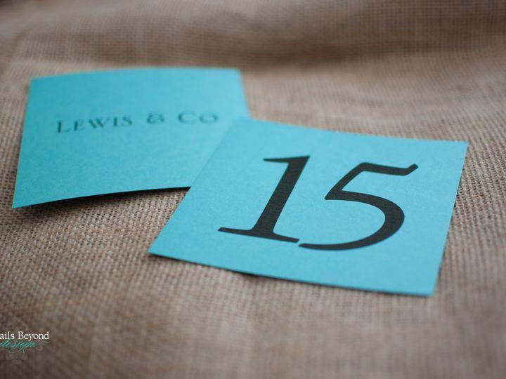 Tmx 1422260574160 Tiffanytablenumbers 1 Rancho Cucamonga wedding invitation