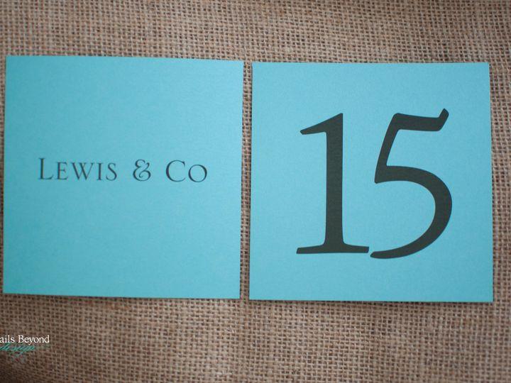 Tmx 1422260609775 Tiffanytablenumbers 2 Rancho Cucamonga wedding invitation