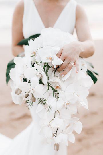 A gorgeous wedding bouquet