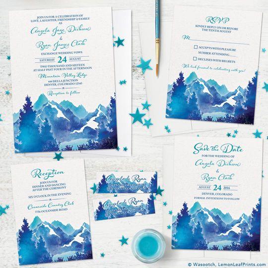 watercolor royal blue mountain wedding invitation set 1080 51 1044087