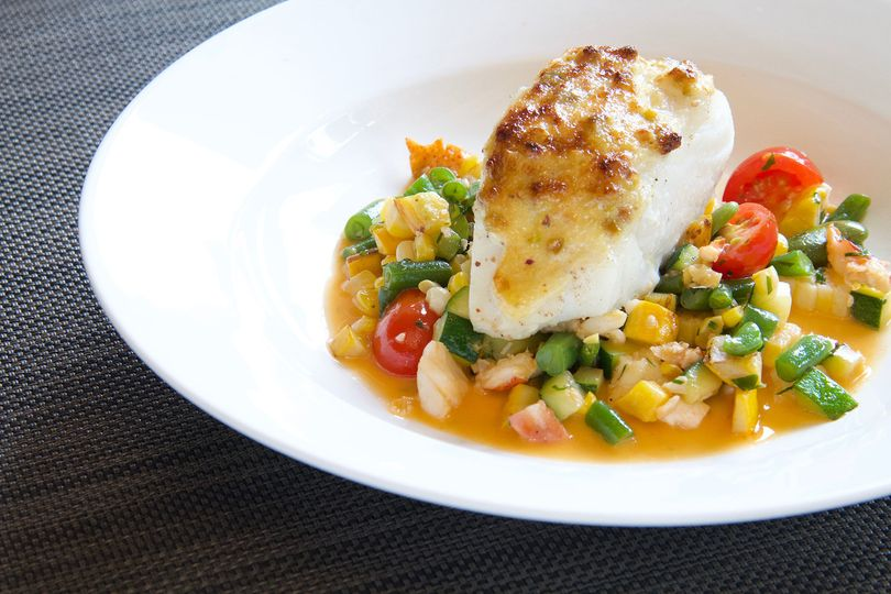 Broiled cod