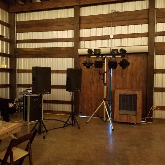 Set up at Allen Farmhaus
