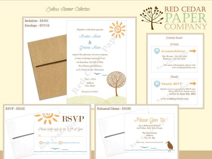 Tmx 1369862729967 Endless Summerproduct Overview1 Okemos wedding invitation