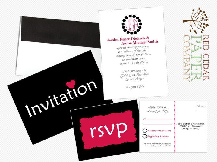 Tmx 1380049857620 Modern Hearts Overview Okemos wedding invitation