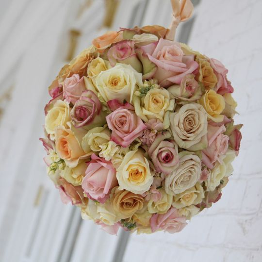 Yellow and pink floral arrangement