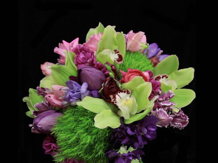 Tmx 1393521637732 Greenpurptuliporc Virginia Beach, Virginia wedding florist