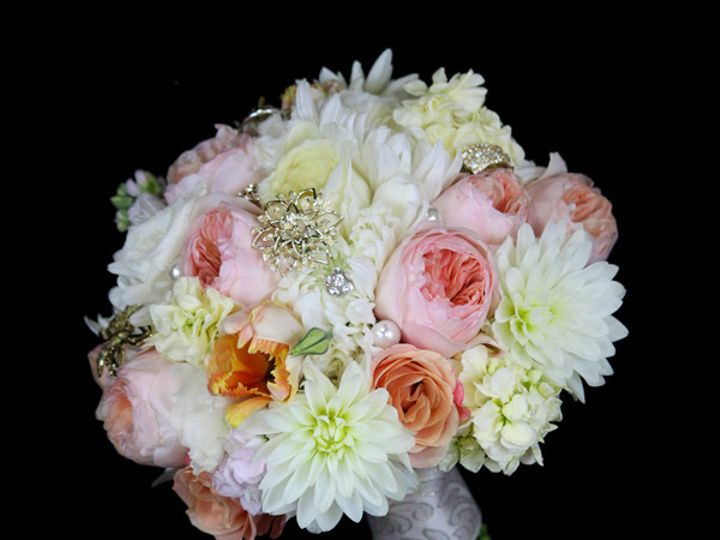 Tmx 1394224538419 Julietwhtpeachvo Virginia Beach, Virginia wedding florist