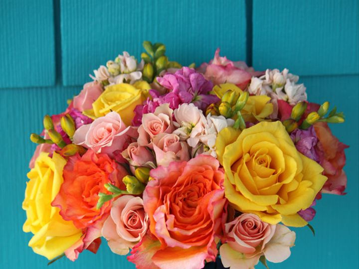 Tmx 1394224563488 Yellorgpinkb Virginia Beach, Virginia wedding florist