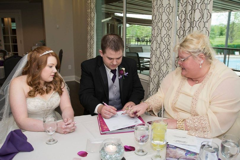 Signing of the wedding contracts