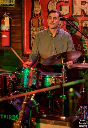 James T. Browne on Vocals, Drums, Acoustic Guitar