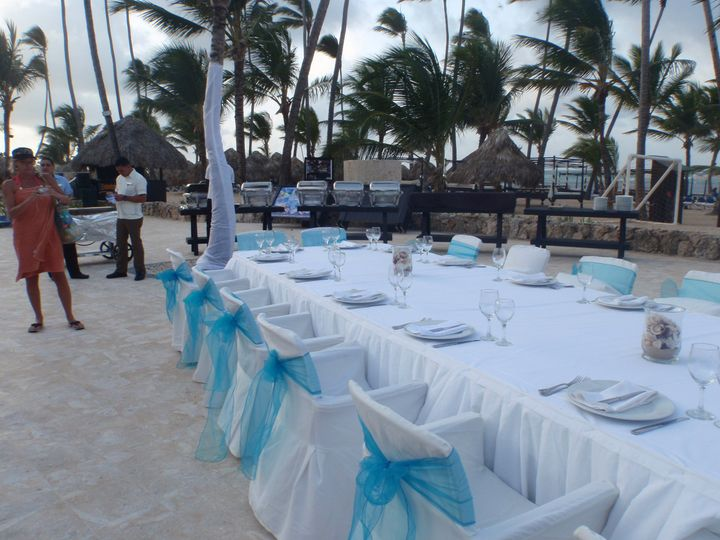 Beach reception - dreams punta cana