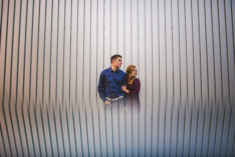 Artistic photo of the happy couple - Bryson Buehrer Photography