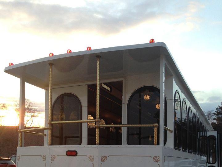Tmx 1365606590487 Trolley Rear Exterior Daytime Haverhill, MA wedding transportation