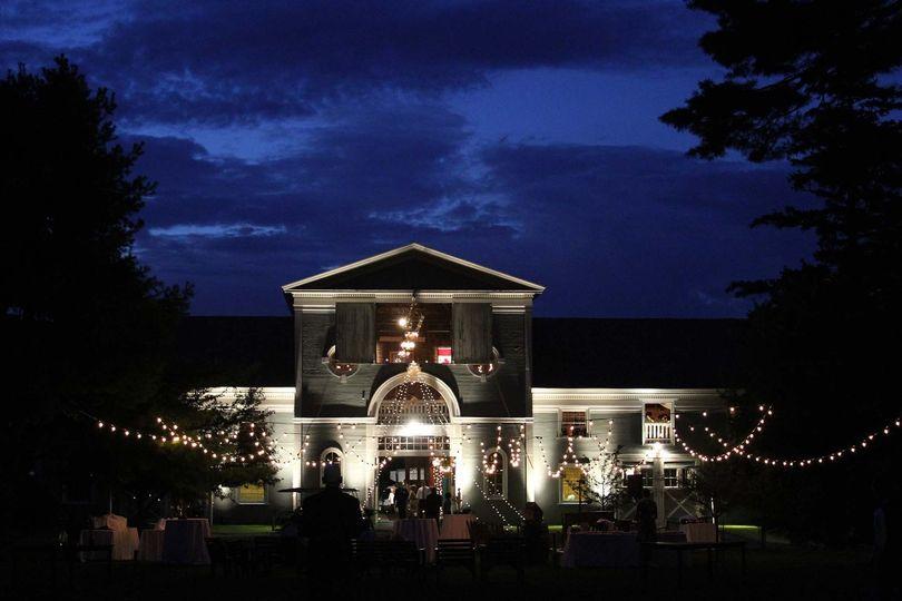 Venue exterior and lighting