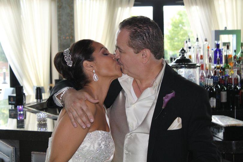Bride and the famous salsa singer Ray Sepulveda. 15 Year anniversary @ Son Cubano WNY,NJ