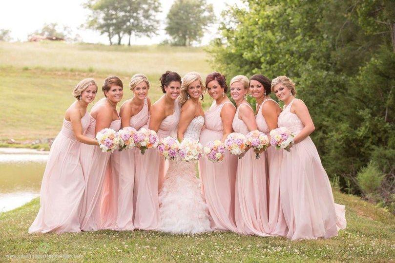 Peachy themed wedding