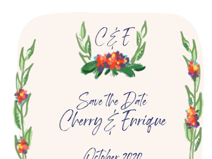 Tmx Cherry Final Gtribe 51 1939087 158307179635583 Charlotte, NC wedding invitation
