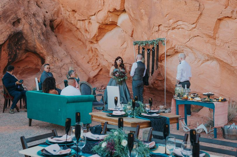 Teal weddings, Las Vegas