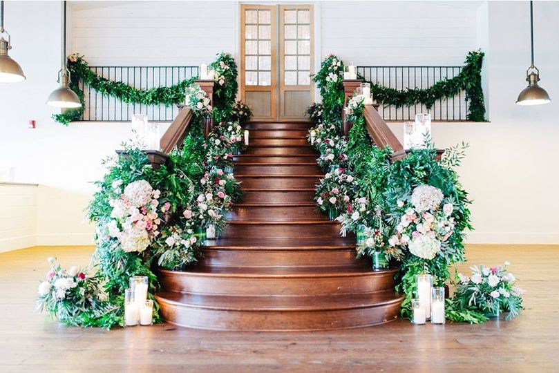 Well decorated staircase