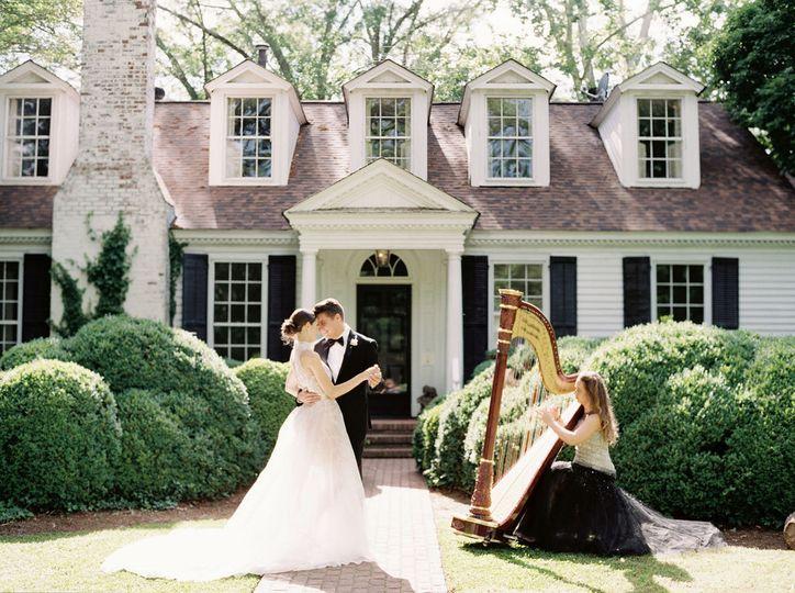 bride elegant harp harpist wedding music griffin georgia meadowlark1939 shauna veasey photography 1 51 320187 160515331212011