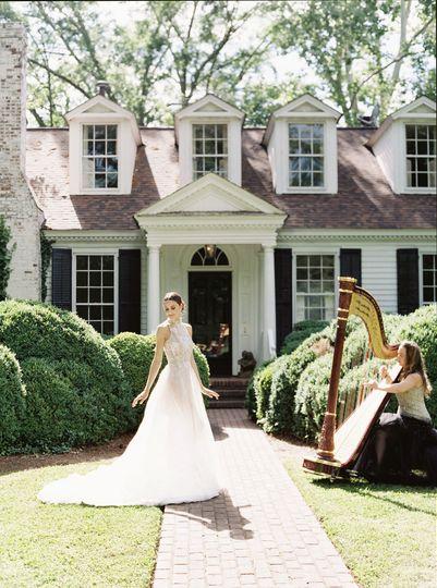 Griffin Georgia Bride and Harp