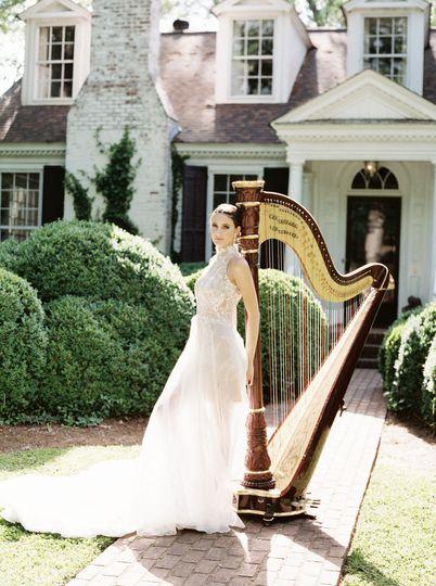 Wedding Harpist Bride