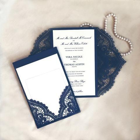 Tmx 1519227469 493d1da97a2d46df 1519227468 75af8f3cf5f89cc4 1519227469261 1 Chantilly Lace MID Egg Harbor Township, NJ wedding invitation