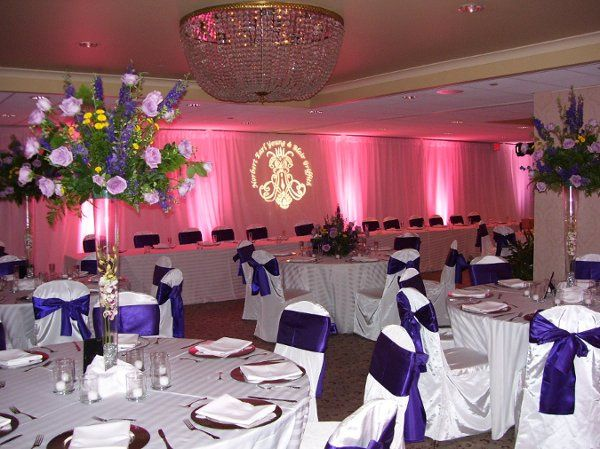 Monet Ballroom with Pipe and Drape and Uplighting