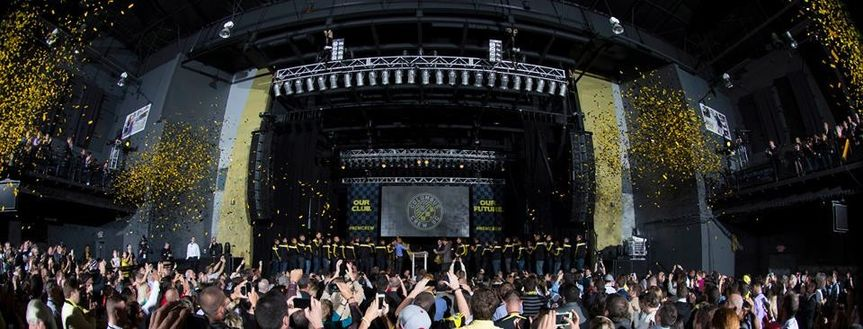 event production columbus crew reveal party