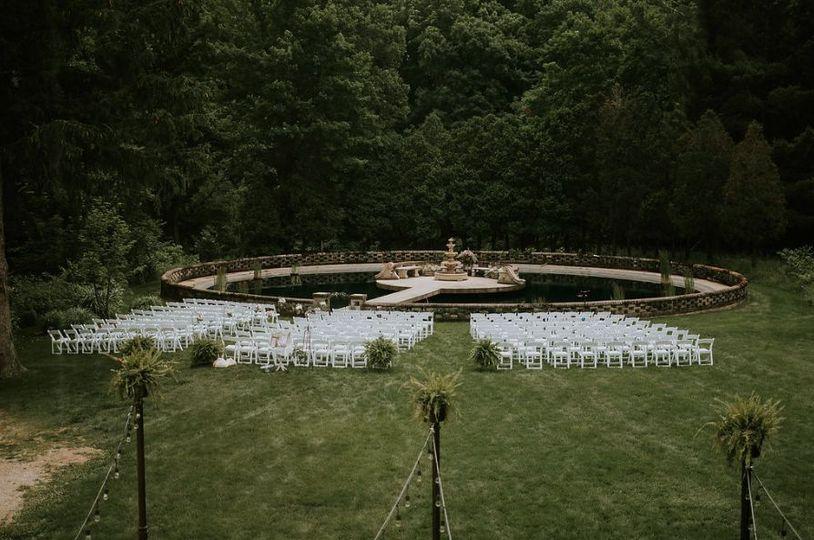 Water Garden ceremony
