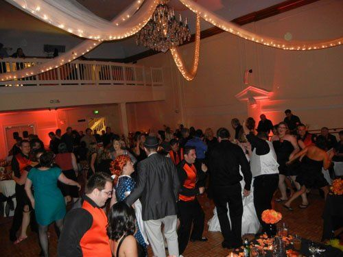 This dance floor was packed all night long for our special 70s Disco night!