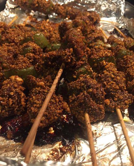 Suya (Crushed peanut Kebab)