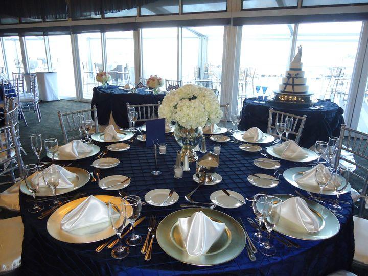 Dark blue table cloth