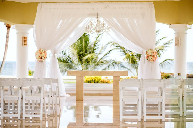 Wedding gazebo in mexico